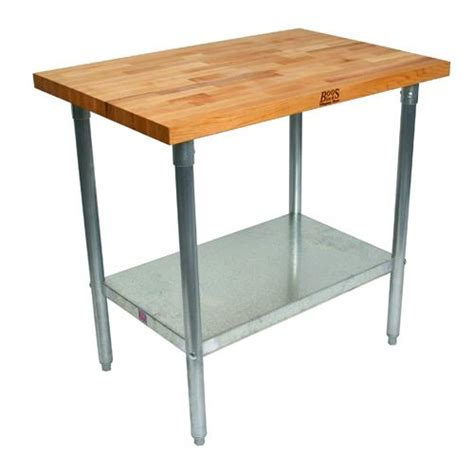 boos kitchen work tables boos jns09 48 quot wood top work table w fixed shelf