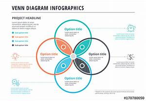 Venn Diagram Infographic With 4 Textures   Buy This Stock