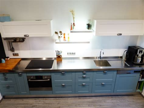 meuble inox cuisine pro cuisine bois inox top cuisine noir bois inox nantes with