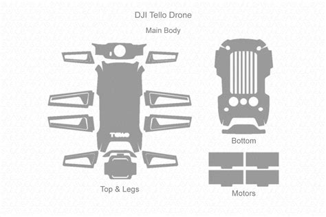 dji tello drone  skin vector template templates dji
