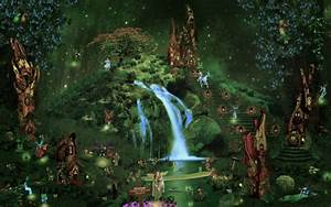 Fantasy, Castle, City, Forest, Waterfall, Fairy, Elf