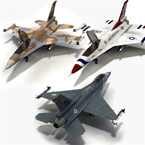 3ds Max F 16 Fighting Falcon Jet Fighter