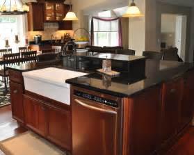 kitchen island with granite countertop black galaxy granite installed design photos and reviews granix inc