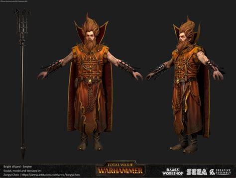 warhammer wizard total bright artstation concept artwork war chen empire tw character wizards fantasy magazine game 3d artist mature