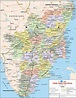 Tamil Nadu Travel Map, Tamil Nadu State Map with districts ...