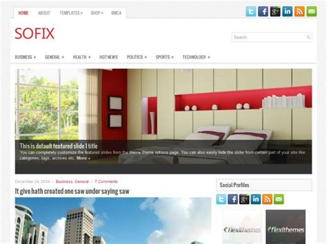 Sofix Free Wordpress Theme