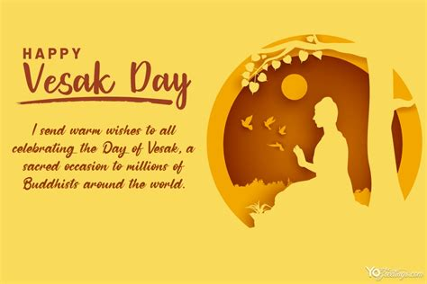 In 2021 vesak is on may 26th (wednesday). Meaningful Vesak Day Cards With Yellow Background