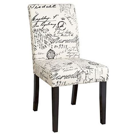dining chair script fabric at big lots this was at