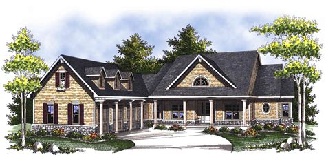 classic country ranch home plan ah architectural designs house plans