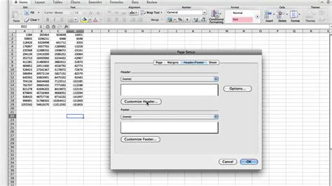 insert page numbers  multiple sheets  excel
