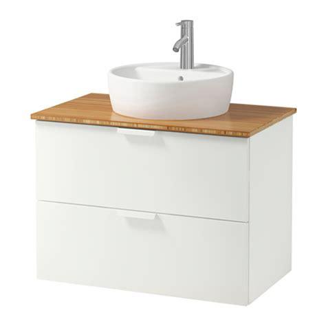 godmorgon aldern t 214 rnviken meuble lavabo av vasque 45 bambou blanc 82x49x74 cm ikea