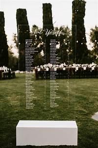 Elegant Seating Charts Wedding 31 Acrylic Wedding Ideas For 2017 Modern Weddings