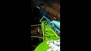 Kingda ka front seat with brand new HTC - YouTube