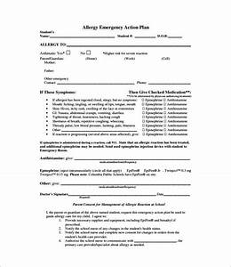 allergy action plan template 9 free word excel pdf With allergy action plan template