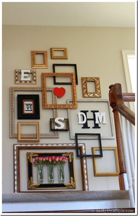 Diy picture frame with tutorial: Picture Frame Gallery Wall With a Valentine Surprise - In My Own Style