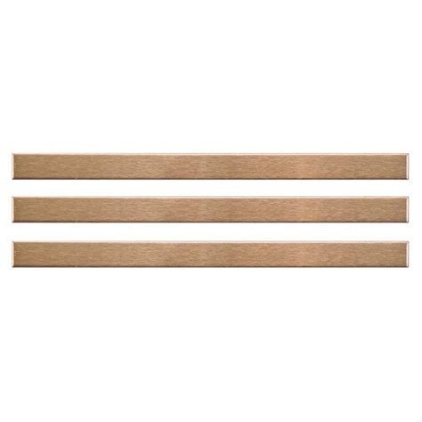 Home Depot Wall Tile Trim by Merola Tile Alloy Stick Copper 3 8 In X 5 3 4 In
