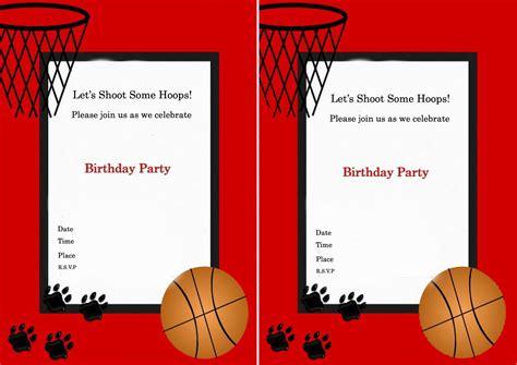 basketball birthday invitations birthday printable