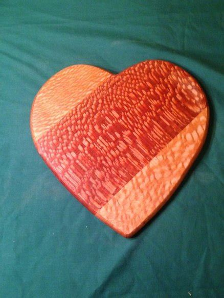 lacewood heart cutting board  russellap  lumberjocks
