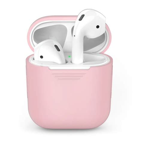apple airpods silicone cover case roze airpods gear