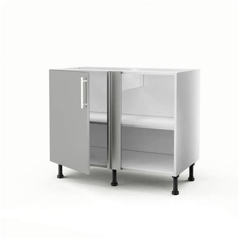 meuble d angle cuisine meuble de cuisine bas d angle gris 1 porte d 233 lice h 70 x l 100 x p 56 cm leroy merlin