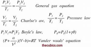 Gas Laws And Equations In Physics