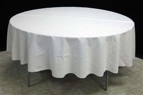 floor length tablecloth for 60 round table white ivory linens