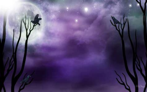 hd purple moonlight wallpaper
