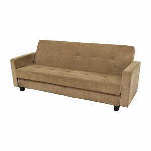 42% OFF - Brown Tufted Futon and Side Arms / Sofas