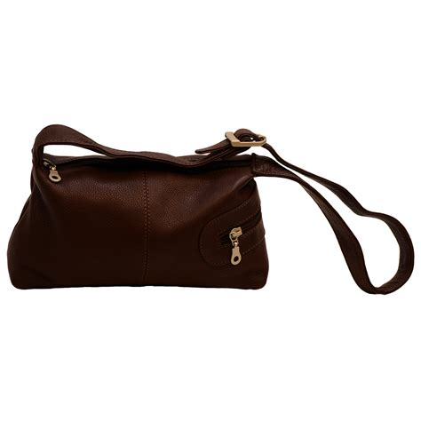 brown leather crossbody purse womens small zippered shoulder bag genuine leather