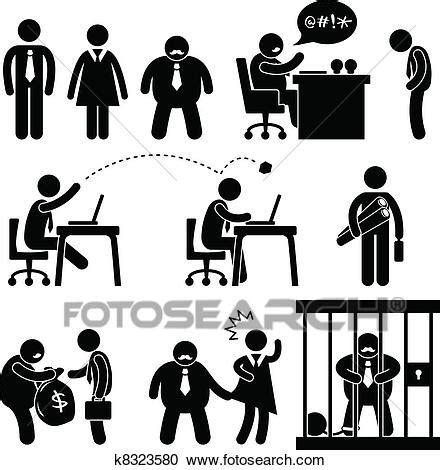 bureau patron clipart affaires drôles bureau patron icône k8323580