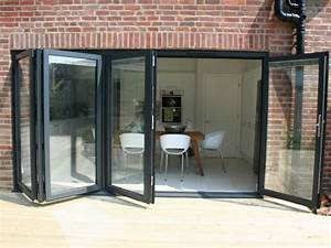 Aluminium bi folding doors folding sliding doors for Bifold doors with windows