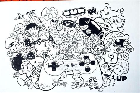 nintendo coloring pages doodle invasion coloring book