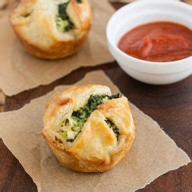 puff pastries spinach and feta and pastries on