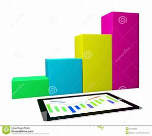 Tablet Pc With Business Graph Diagram Royalty Free Stock