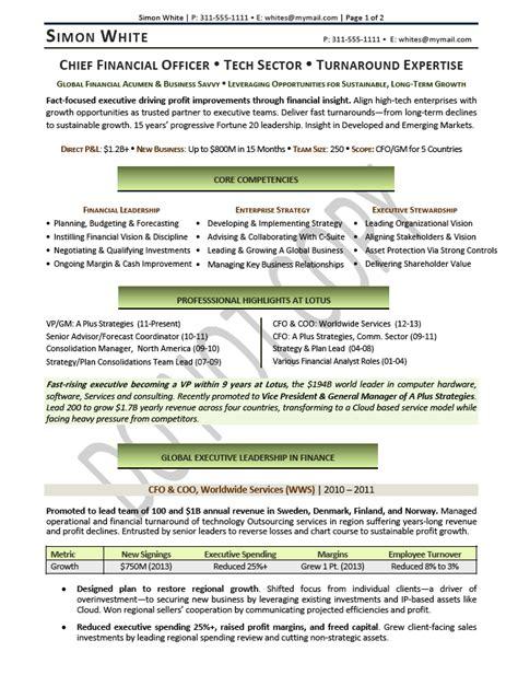 cfo sle resume chief financial officer resume executive