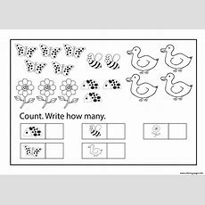 Worksheets Kindergarten Free Printable Educational Counting Coloring Sheets Coloring Pages Printable