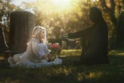 Death Reaper Grim Cemetery Wallpapers Graveyards Tombstones