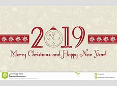 Vector 2019 Happy New Year And Merry Christmas Background
