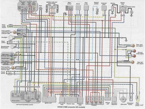 Xv1700 Wiring Diagram by Yamaha Virago Xv 535 Elektrika