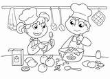 Coloring Cooking Baking Printable Cookies Bakery Utensils Unisex Chef Cook Jobs Kitchen Baked Cake Culinary Bunny Drawing Bake Funky Colouring sketch template