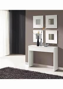 meuble d39entree avec miroirs blanc With meuble d entree blanc