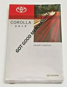 2019 Toyota Corolla Owners Manual User Guide Xse Xle L Se Le Base Eco V4 1 8l