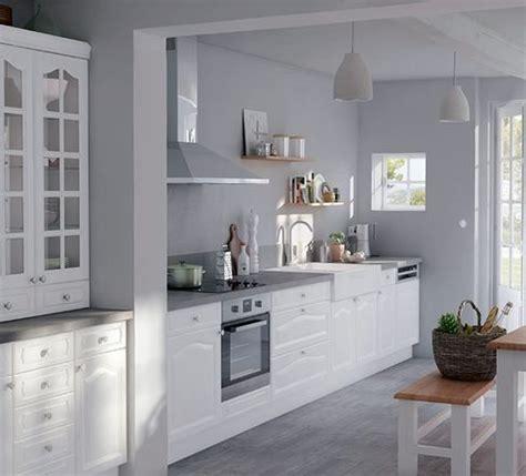 cuisine peinte en gris peinture gris perle pour cuisine maison design bahbe com