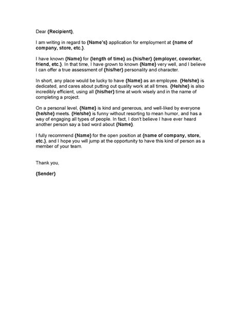 character letter template character letter sles template best professional resumes letters templates for free