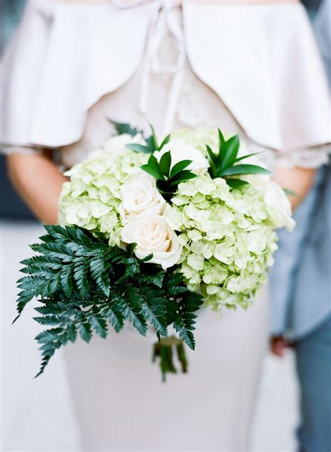 pin by the knot on diy details fern bouquet hydrangea
