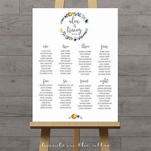 Etsy Size Chart Printable Wedding Seating Chart Alphabetical Board Guest