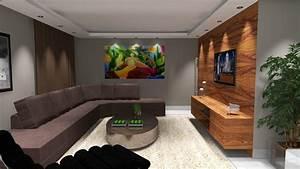 Decoração de Sala de Estar Barbara Borges Projetos 3D