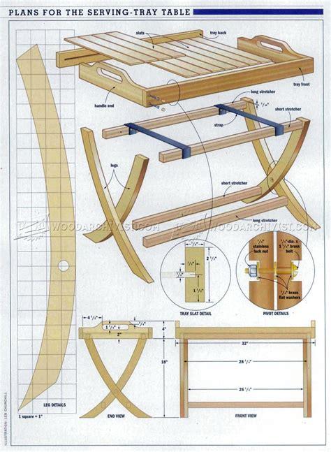 Folding Serving Tray Table Plans • Woodarchivist