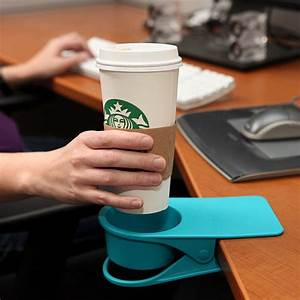Drinklip Is A Clip-On Cupholder For Your Desk