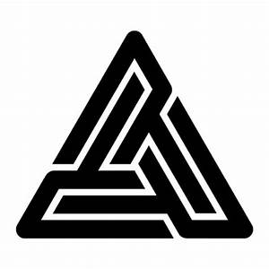 Black pyramid tattoo